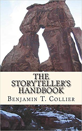 The Storyteller's Handbook cover with stone pillars. by Benjamin T. Collier