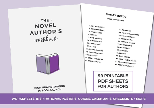 Table of Contents for The Novel Author's Workbook